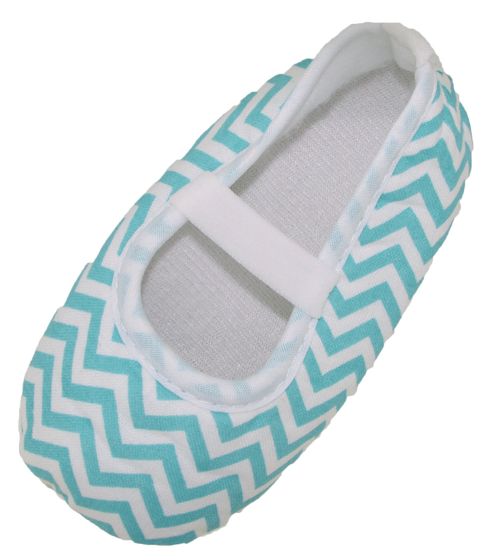Newborn Crib Shoes Baby Shoes Infant Or Newborn Crib Shoes Aqua Chevron Baby