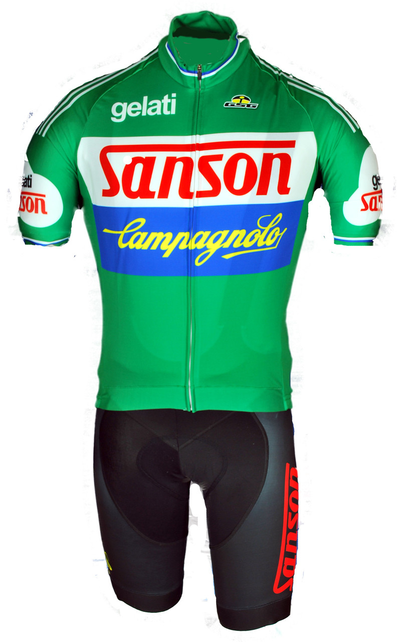 Retro Jerseys Gelati Sanson Campagnolo Full Zipper Retro Jersey