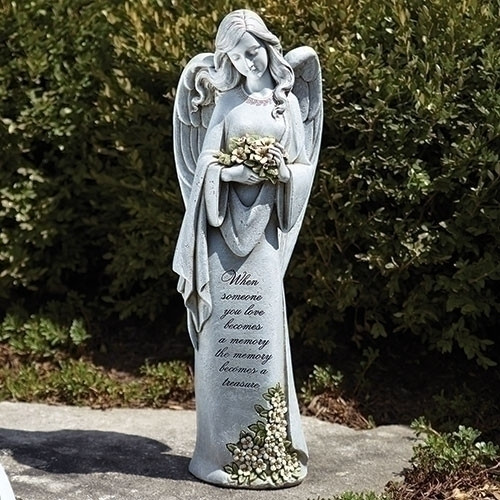 Bulk African Jewelry Memorial 23 Angel Statue With Flowers Giftswithlove Inc