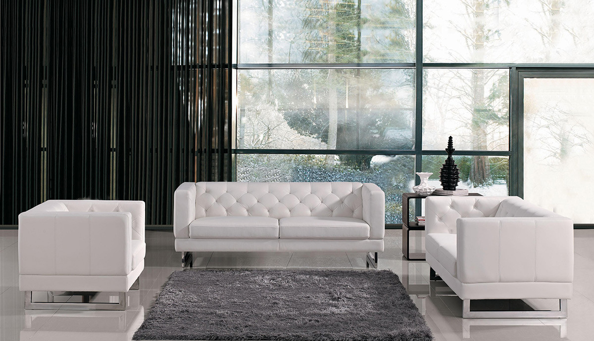 Divani Leather Sofa For Sale Divani Casa Windsor Modern Tufted Eco Leather Sofa Set