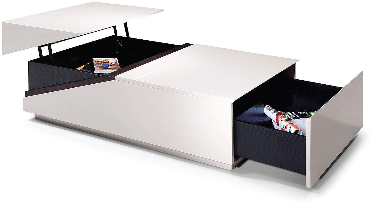 Modern Coffee Table With Storage Modrest Se152a Modern Coffee Table W Storage Compartments
