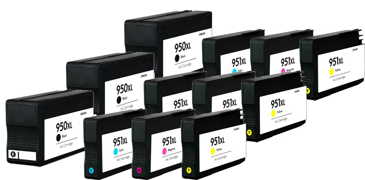 950 Ink Details About 12 Pack 950xl 951 Xl Ink Cartridges For Hp Officejet Pro 8600 8610 8615 8620