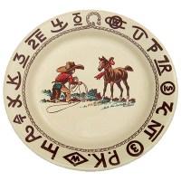 Western Dinnerware Christmas Cowboy Dinner Plate 11-inch ...