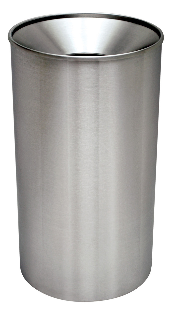 Metal Indoor Trash Can 33 Gallon Metal Indoor Outdoor Stainless Steel Funnel Trash Can Wr 33f S S