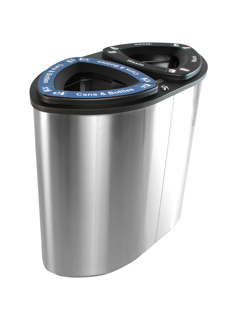 Stainless Steel Recycling Bins 2 Stream 52 Gallon Boka Stainless Steel Recycling Bin Boka2 Ss