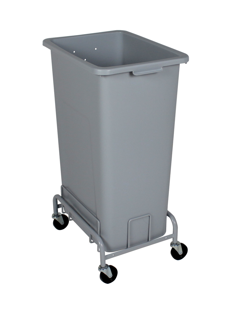 Laundry Trash Cans 24 Gallon Plastic Extra Large Trash Can With Wheels 4 Color Choices