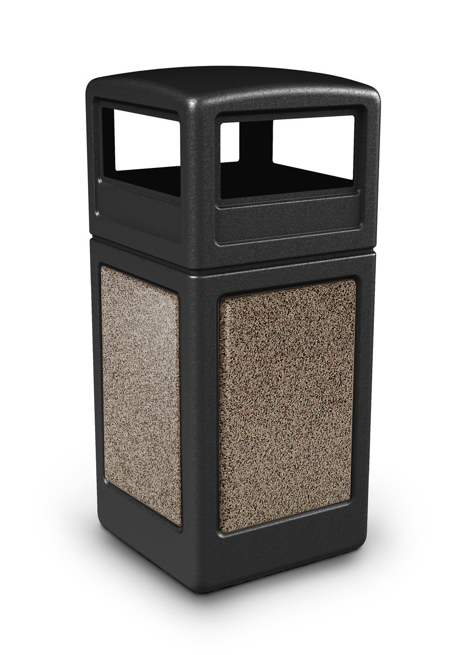 Garbage Bins Walmart 42 Gallon Stonetec Stone Panel Trash Can With Dome Lid 72041199 9 Colors