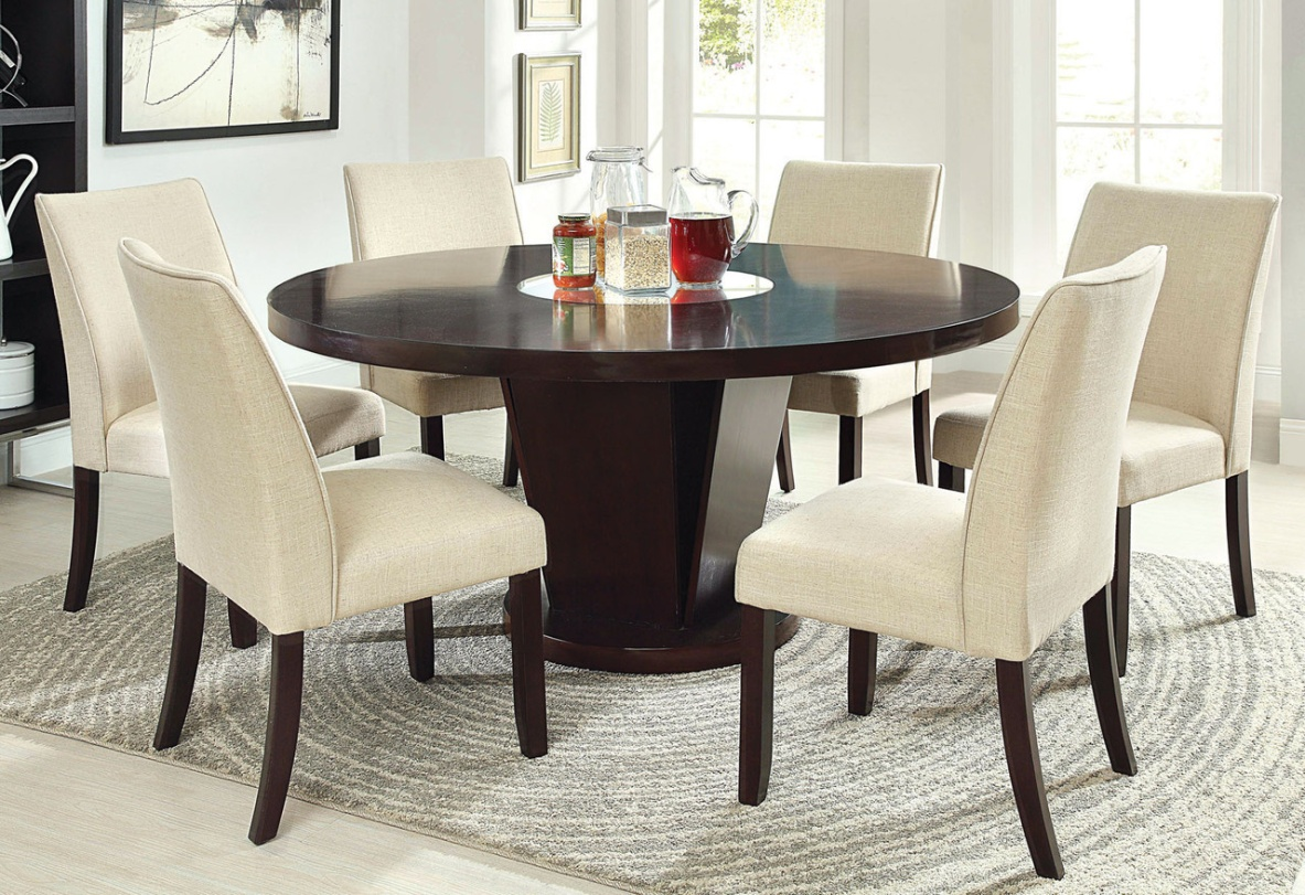 dining table glass round