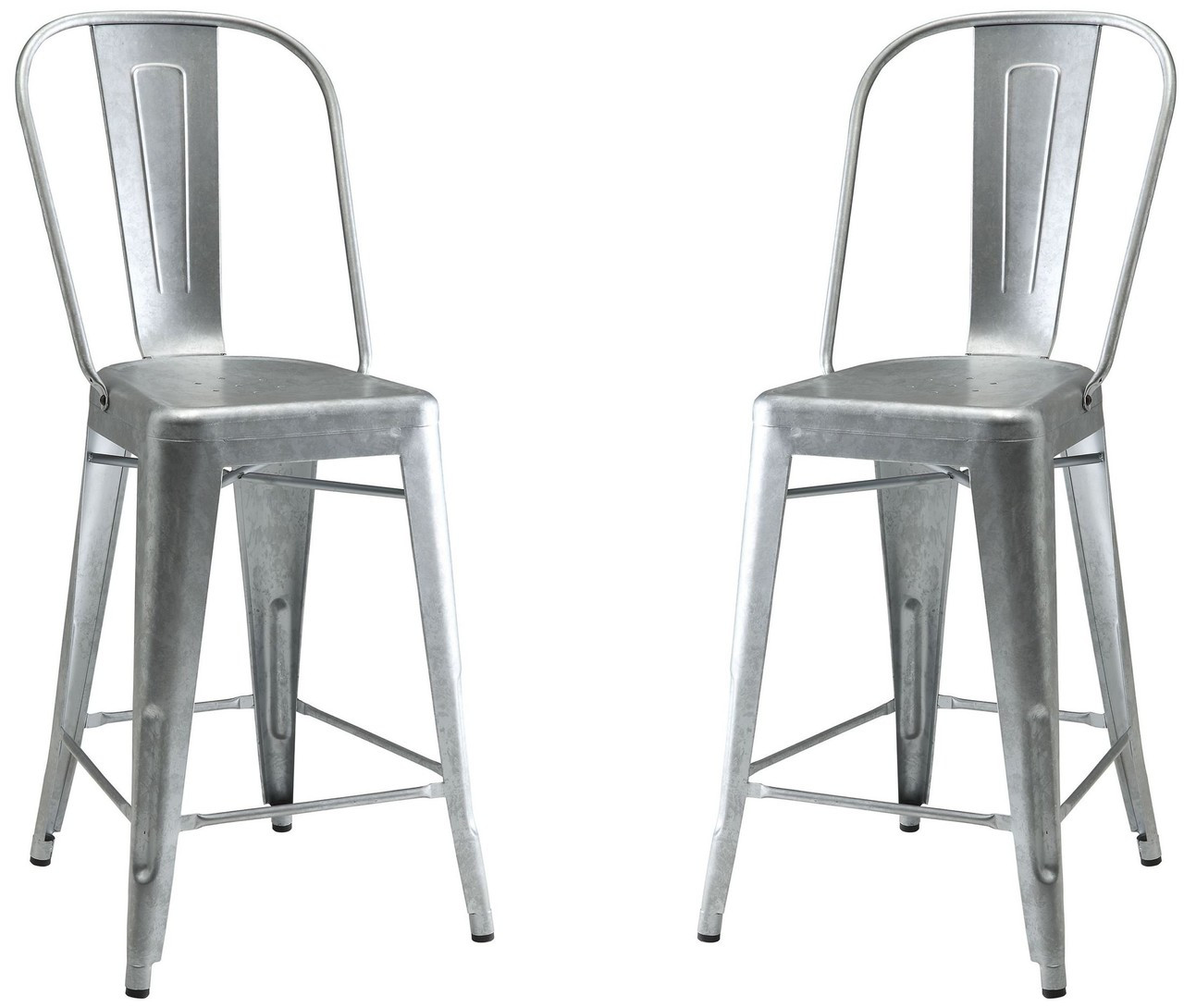 Metal Stools Lahner Bistro Style Metal Counter Stools Set Of 2