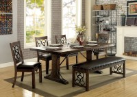 Furniture of America CM3465T Wood Metal Dining Set