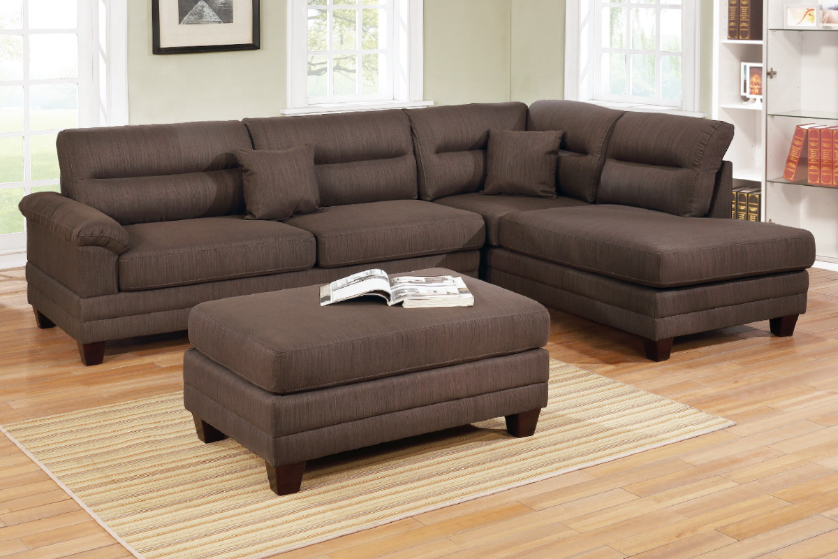 Chaise Pc 3 Pcs Sectional F6586 With Reversible L R Chaise And Ottoman
