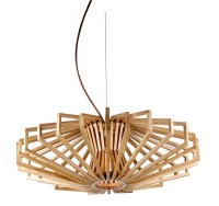 UFO Timber Wood Pendant Lamp - Zest Lighting