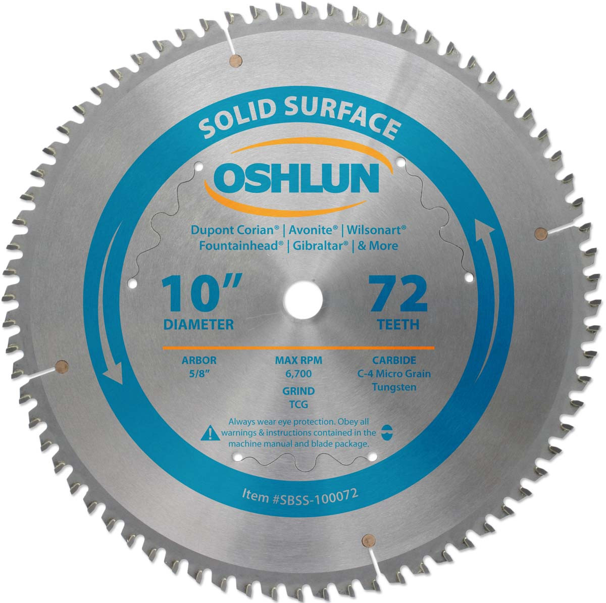 Solid Surface Plastic Cutting Saw Blades By Oshlun