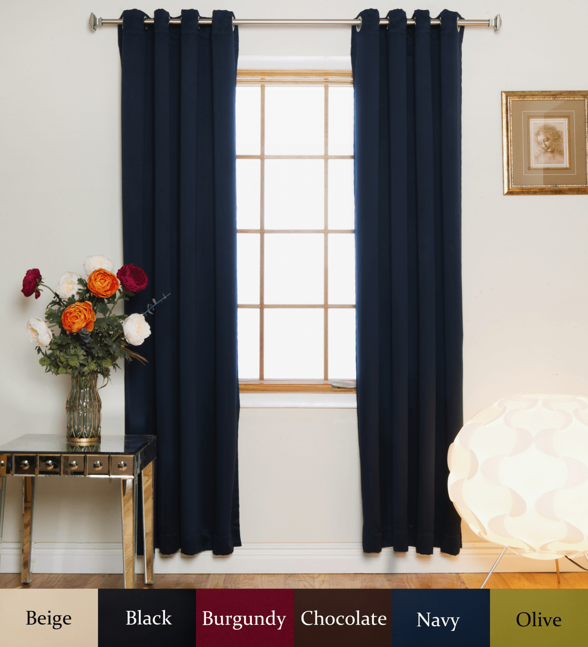 94 Inch Blackout Curtains Nickel Grommet Top Blackout Curtain 108 Inch Length