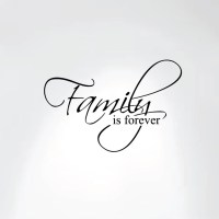 Family Is Forever Vinyl Wall Decal Art Saying Home Decor ...