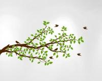 Tree Branches Wall Decal Birds Vinyl Sticker Nursery ...