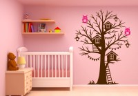 Tree House Wall Decal Sticker Vinyl Nursert Art Owls ...