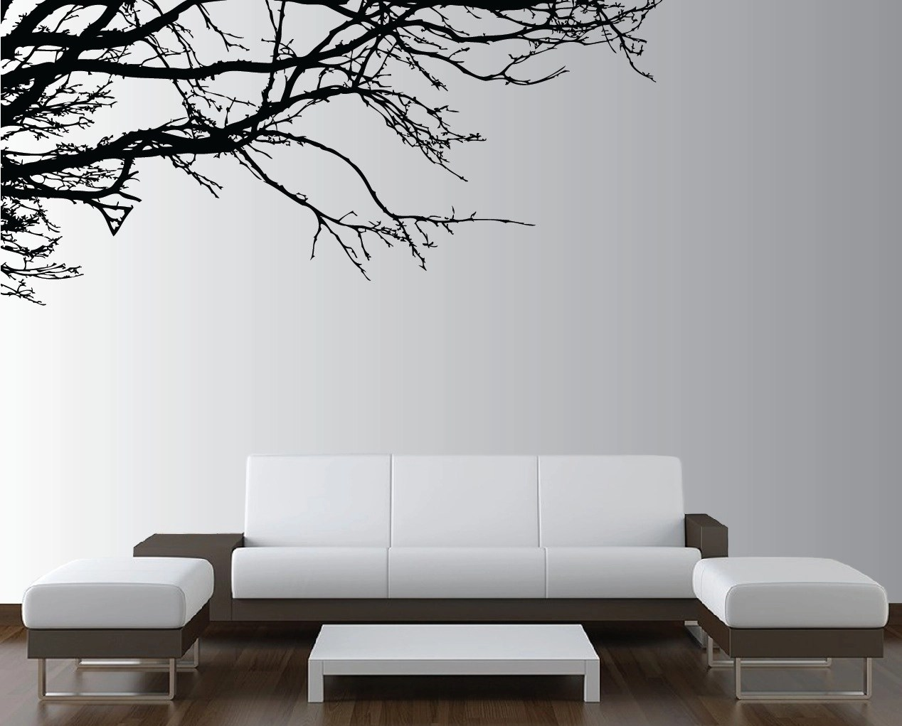 Décoration Murale Branches Large Wall Tree Nursery Decal Oak Branches 1130