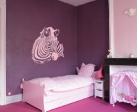 Large Wall Zebra Pattern Nursery Girls Room Decor Decal ...