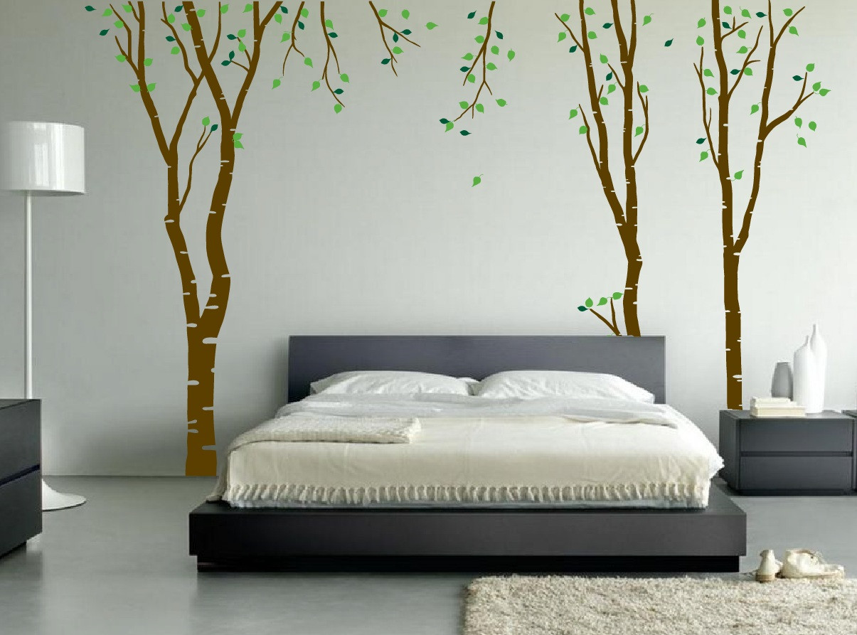 Bedroom Wall Art Trees Large Wall Birch Tree Decal Forest Kids Vinyl Sticker