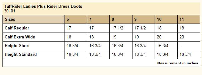 Wide calf english riding dress boots