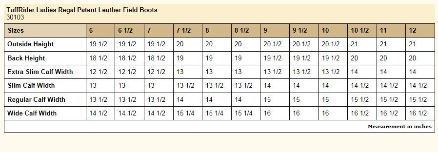 TuffRider Regal Patent Leather Field Boots - The Lexington Horse