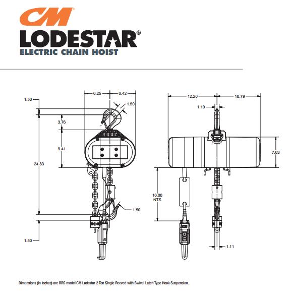cmlodestarr electric chain hoists