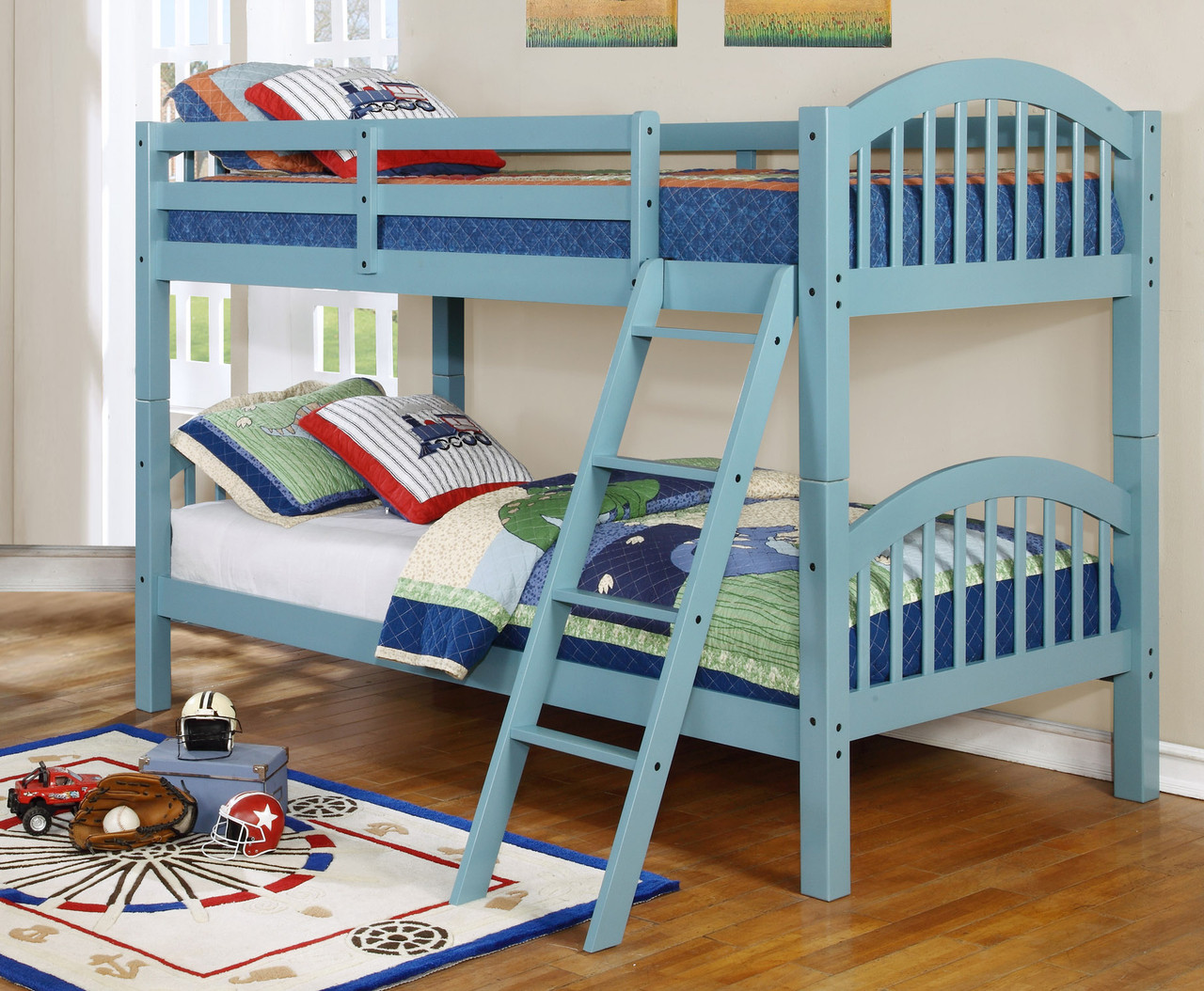 Stackable Twin Beds 45215 Dana Solid Colors Twin Twin Arch Stackable Bunkbed Bella