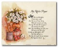 My Kitchen Prayer   Prayer Posters