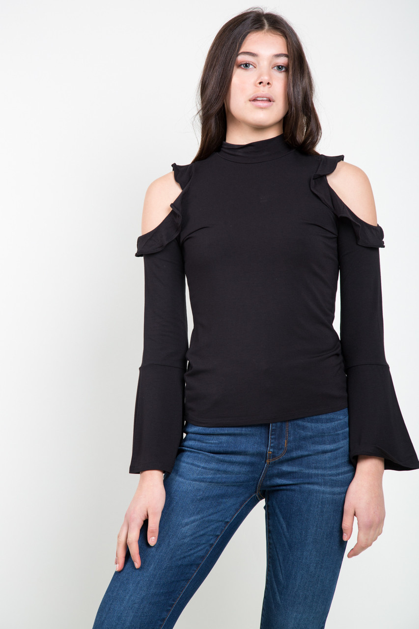 Top Bb Bb Dakota Marry The Night Ruffle Top In Black