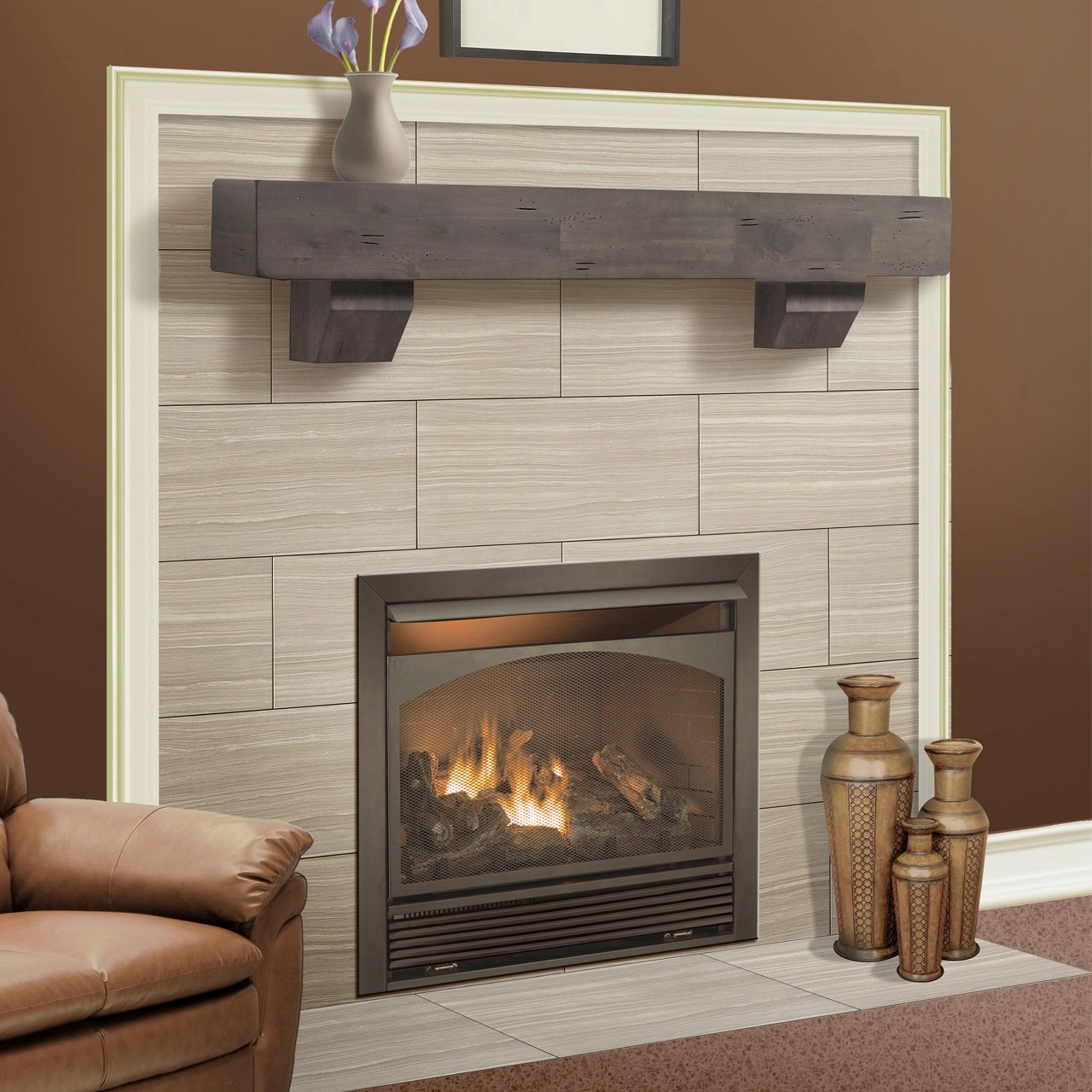 Build Your Own Fireplace Insert Duluth Forge Dual Fuel Ventless Fireplace Insert 32 000 Btu