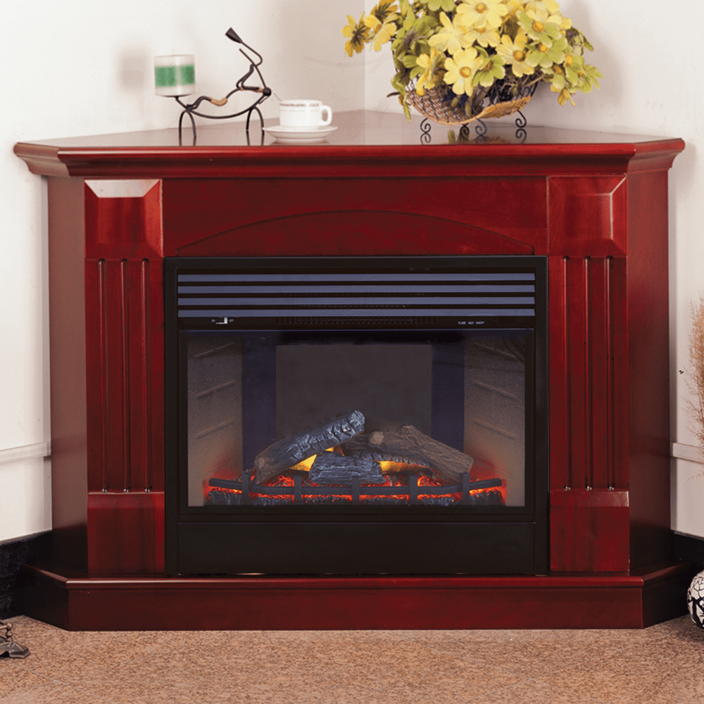 Gas Vs Electric Fireplace Pros And Cons Procom Deluxe Electric Corner Fireplace With Remote Control Cherry Finish Model Sfe24rec6 C