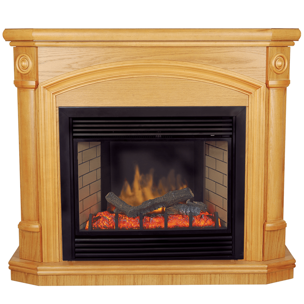 Gas Vs Electric Fireplace Pros And Cons Procom Deluxe Electric Fireplace With Remote Control Oak Finish Model Sfe24re O