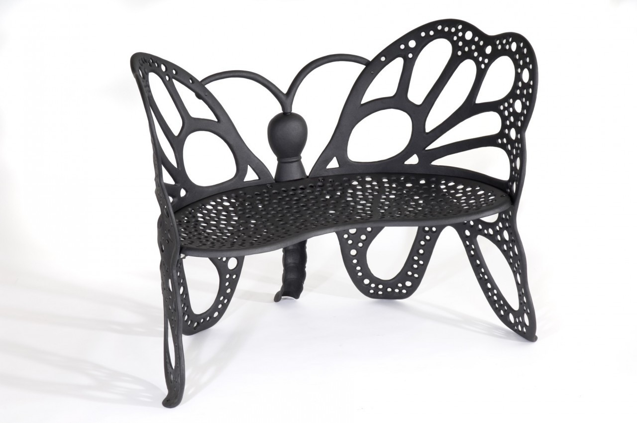 Black Bench Butterfly Bench
