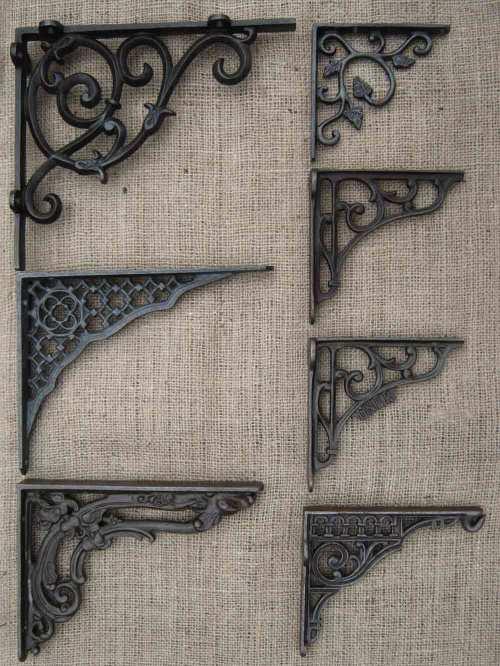 Medium Of Cast Iron Shelf Brackets