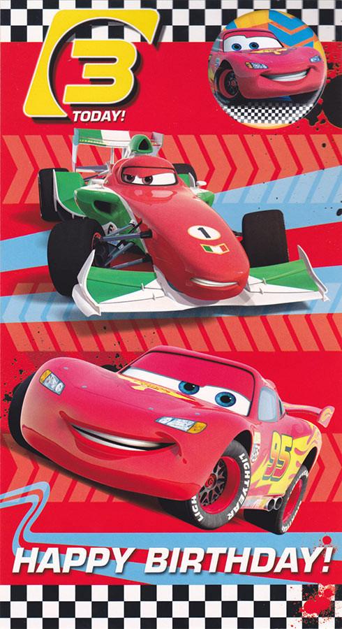 disney cars birthday card