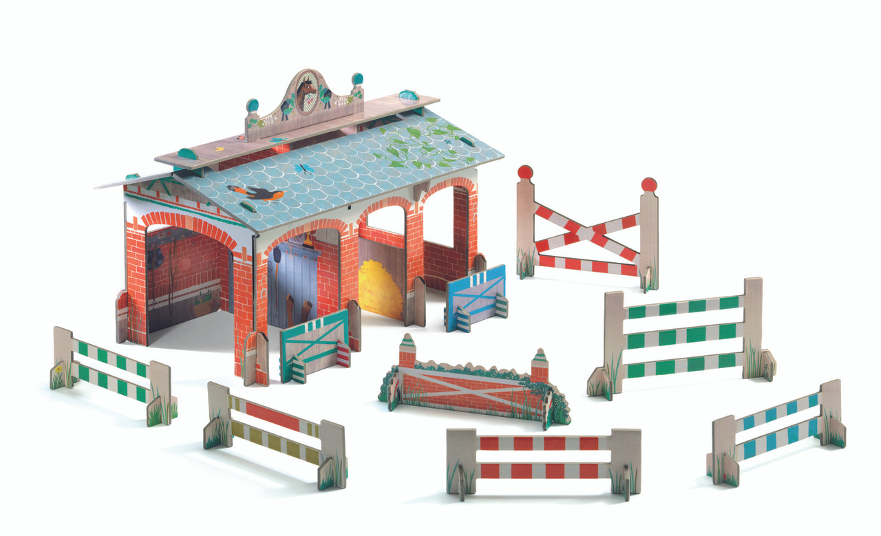 Garage Djeco Stable 3d Pop To Play By Djeco
