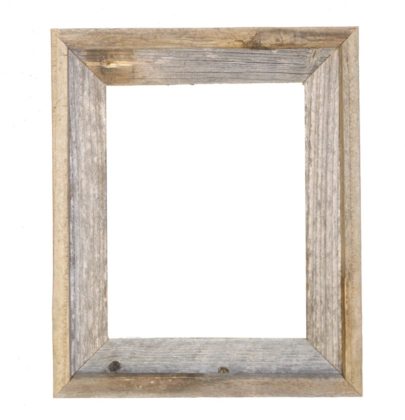 Genuine Image Frames Reclaimed Barn Wood Open Frame Glass Or 11x14 ...