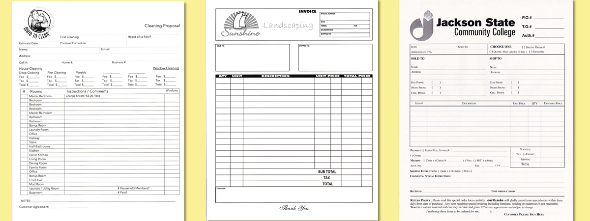 Carbonless Invoices Carbonless