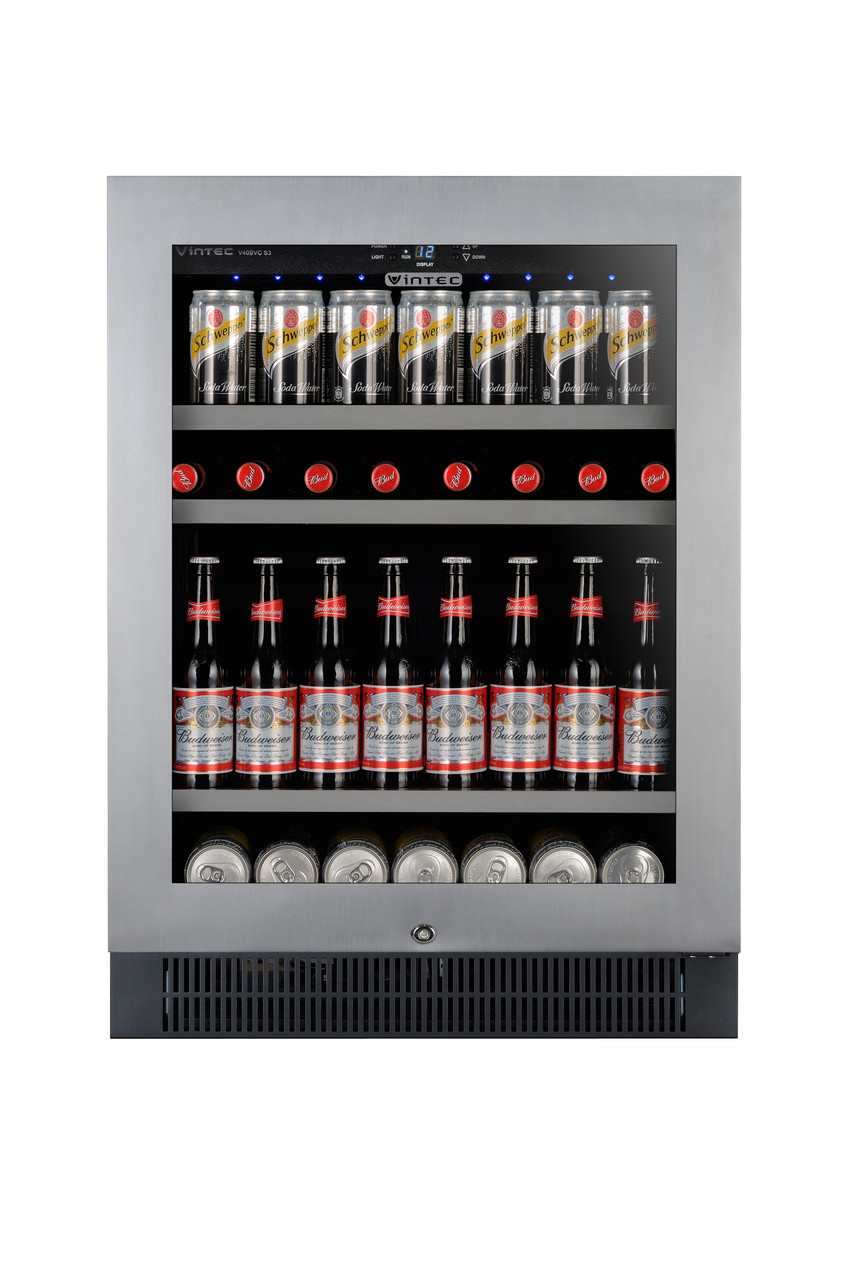 Bar Fridges Brisbane Vintec 100btl Beer And Wine Bar V40bvcs3 The Bbq Store