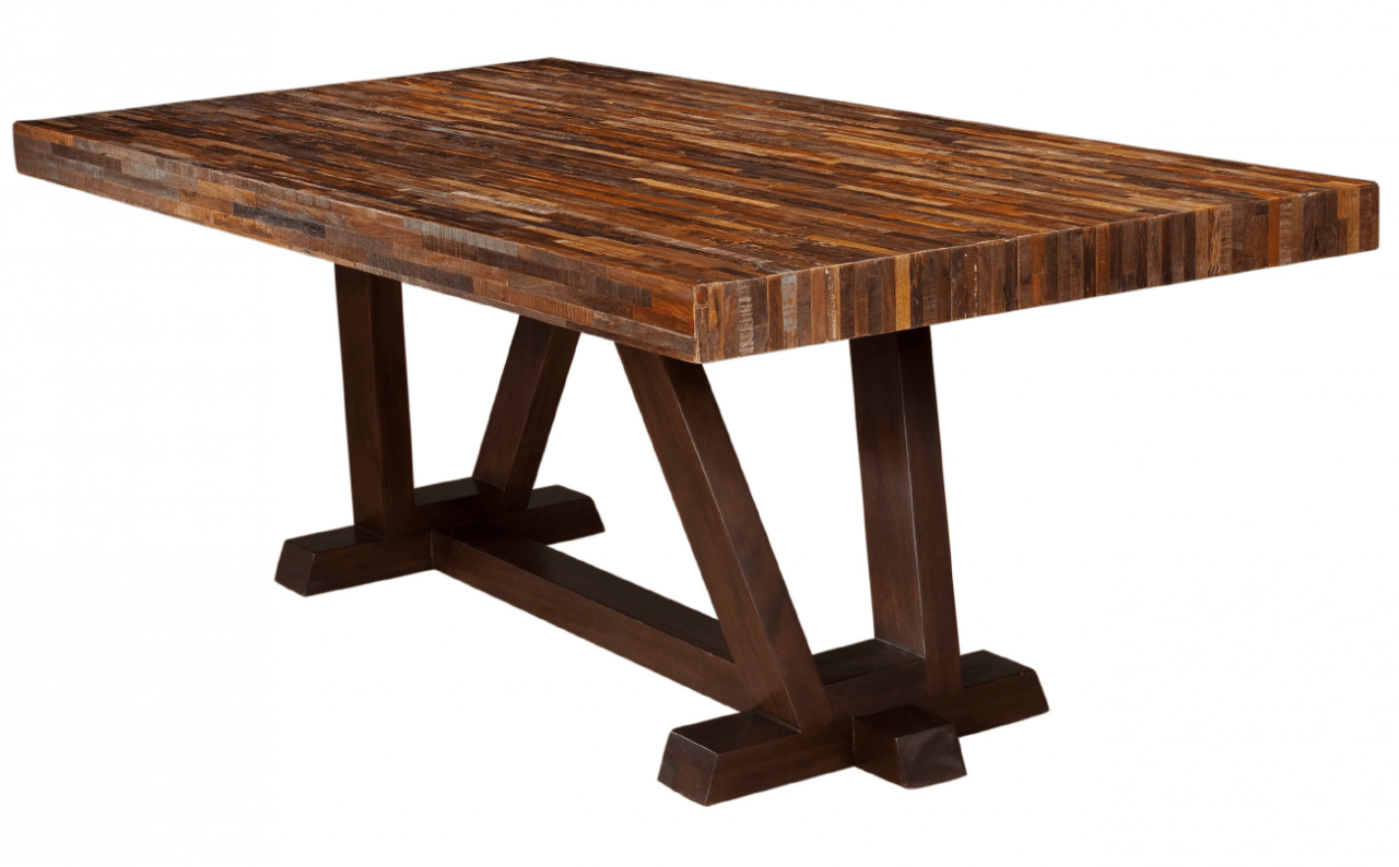Max A Table Rustic Reclaimed Wood Bina Max Dining Table 84 Quot Zin Home