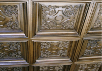 British Sterling - Faux Tin Ceiling Tile - Coffered - Drop ...