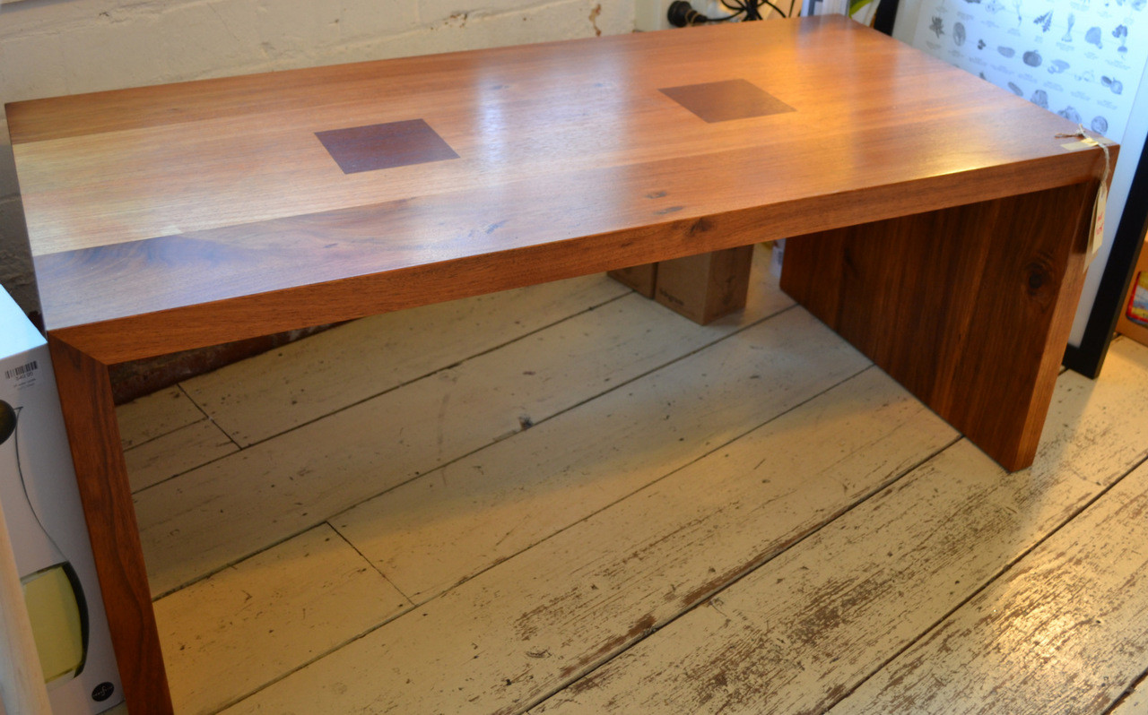 Solid Timber Coffee Table Solid Timber Coffee Table Blackwood With Redgum Inserts