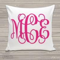 personalized throw pillow, monogram girl, custom pillowcase