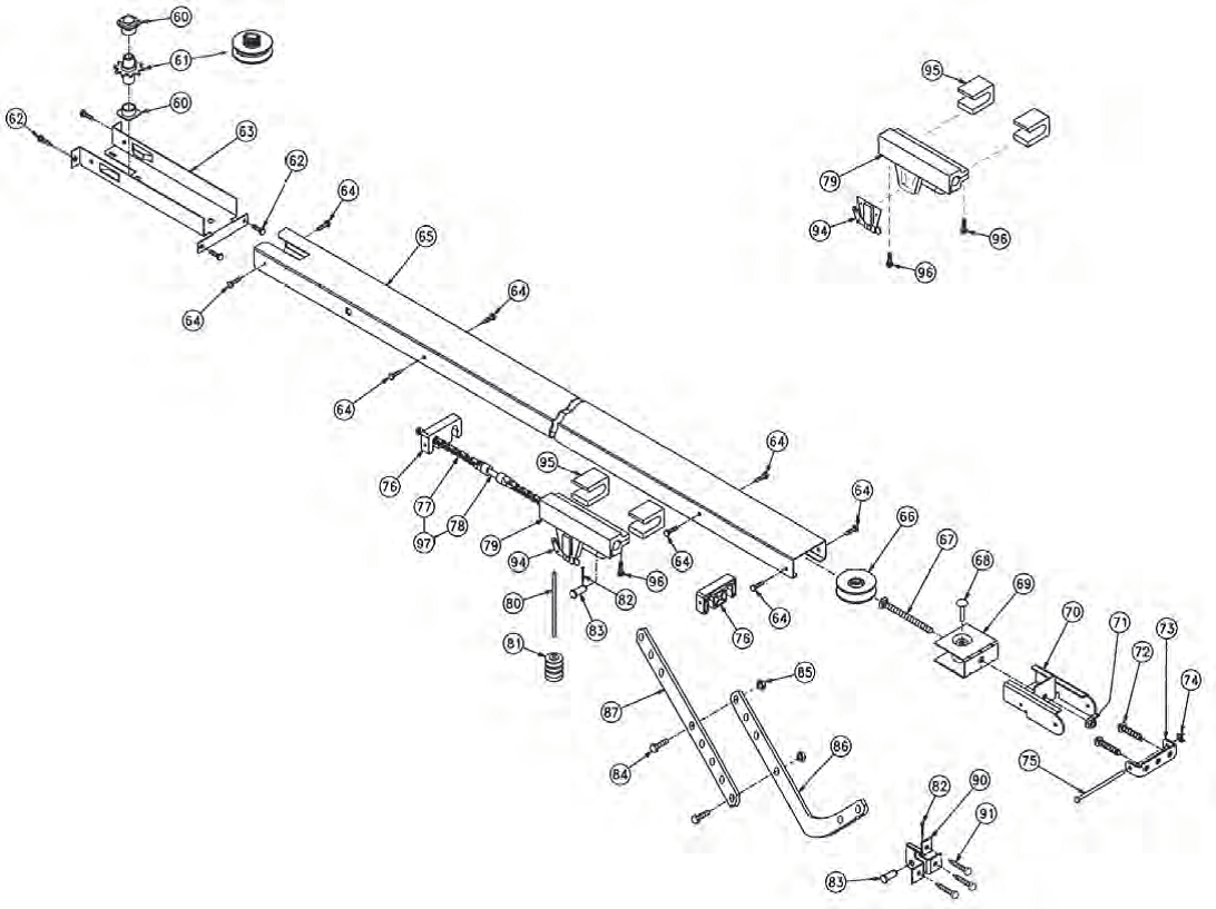 Garage Door Parts Near My Location Overhead Door Legacy 696cd B Replacement Parts