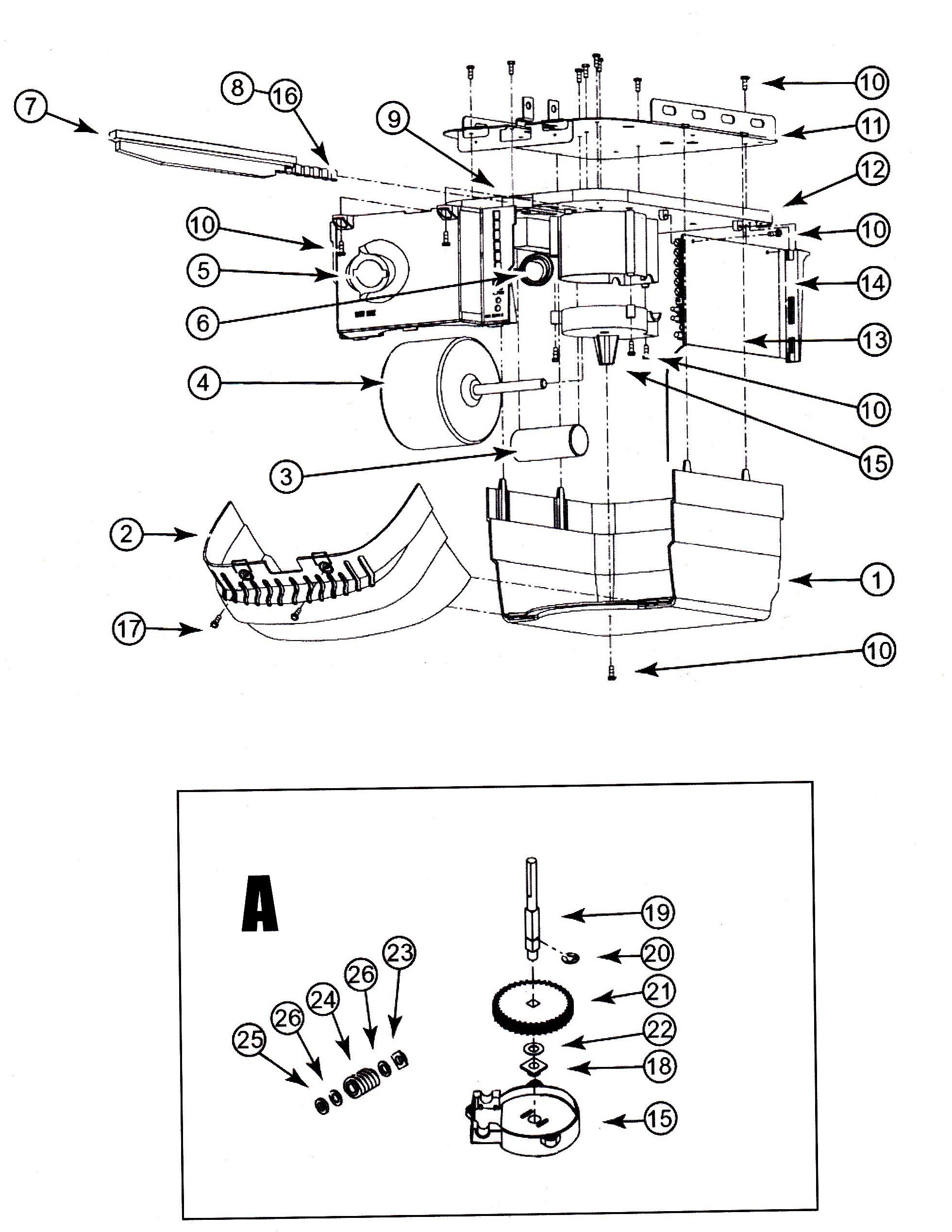 garage door opener wiring diagram likewise genie garage door