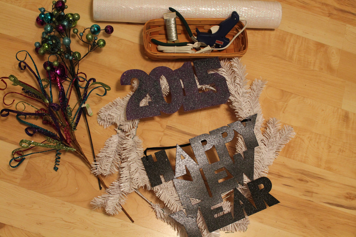 Diy Wreath Supplies Diy Deco Mesh Wreath Tutorial Happy New Year The