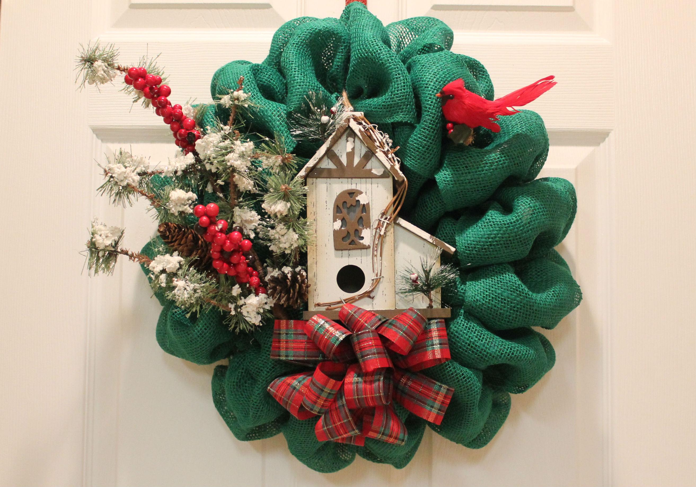 Fall Bird Wallpaper Diy Burlap Christmas Wreath Quot Woodland Bird House Quot The