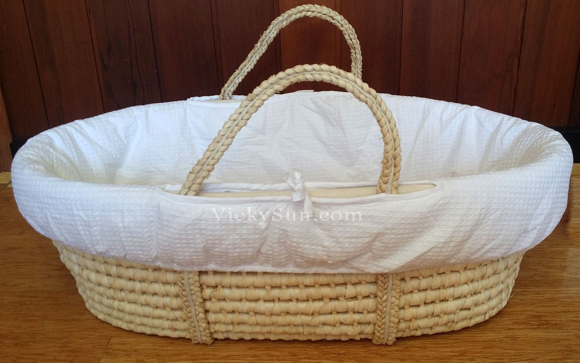 Baby Bassinet Moses Basket White Baby Moses Basket Bassinet With Wider Head To Toe