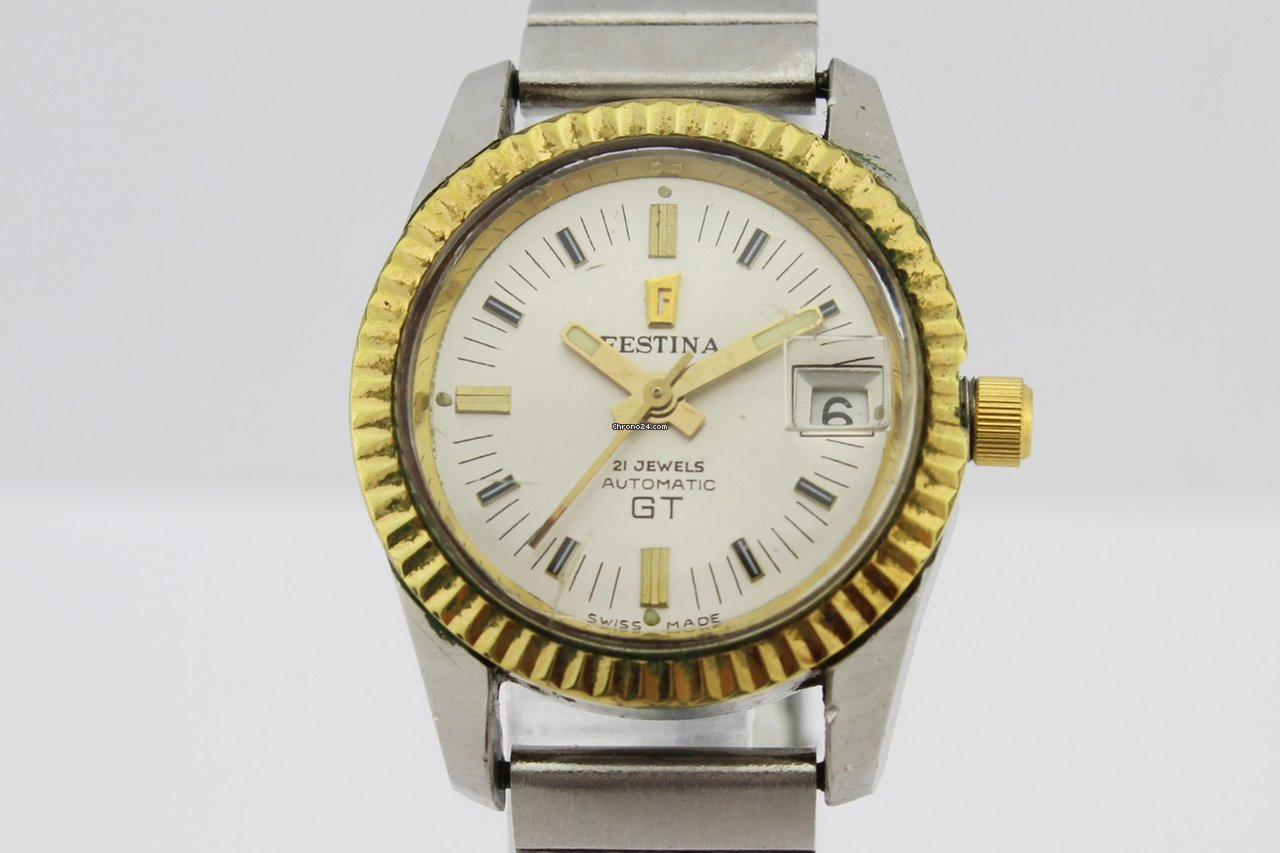 Relojes Cuadrados Mujer Festina Gt Automatic 21jewels